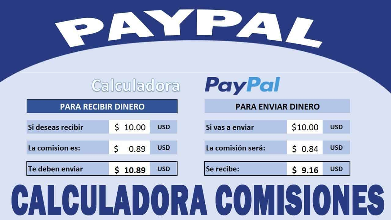 comisiones paypal