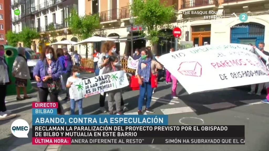 manifestantes obispado abando