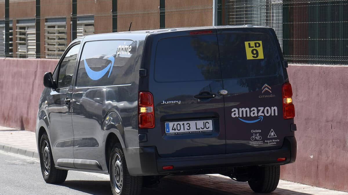 furgoneta Amazon gris